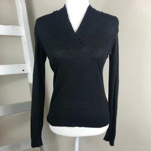 BROOKS BROTHERS Silk Cashmere V-Neck Sweater XS